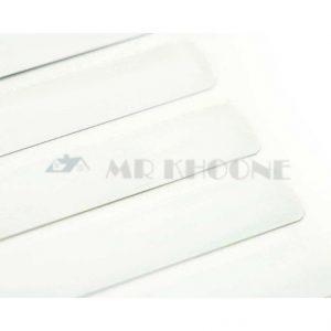 پرده کرکره فلزی سفید ساده 16 میل کد MR404401